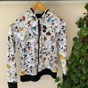 Disney Mickey Mouse Zippered Hoodie sz med